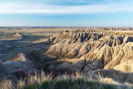 ridges: Sandstone ridges stretch into the distant pairie.