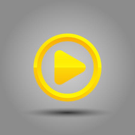 sillouette: play button