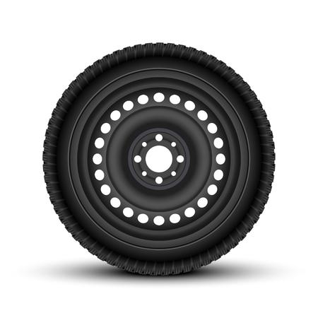 Realistic Vector Vehicle Wheels.
