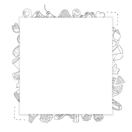 与许多的模板空白卡片在背景中在背景中绘图象。传染媒介例证,eps10。