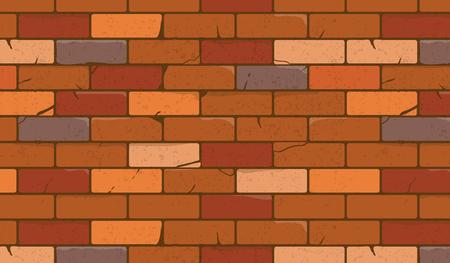Brick wall texture cartoon style. Vector illustration, eps10. 向量圖像