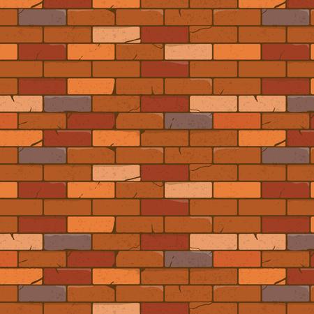 Brick wall texture cartoon style. Vector illustration, eps10.