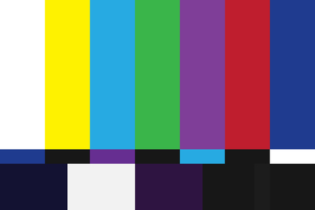 Television test pattern of stripes. 일러스트