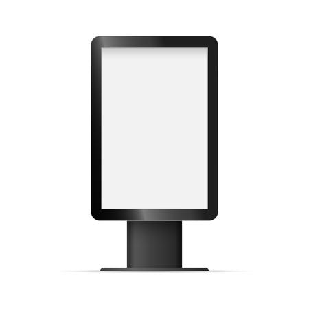Vertical blank template outdoor light box illustration.
