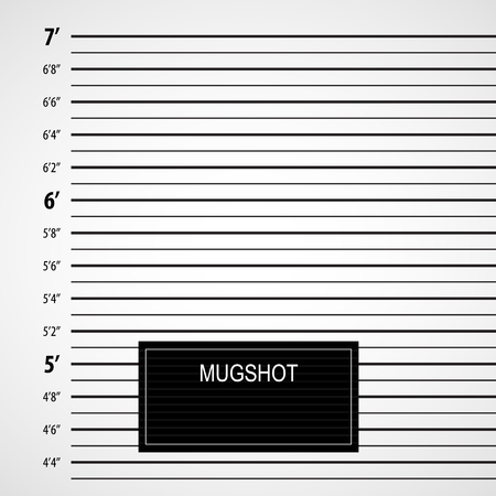 Police lineup or mugshot background with a table