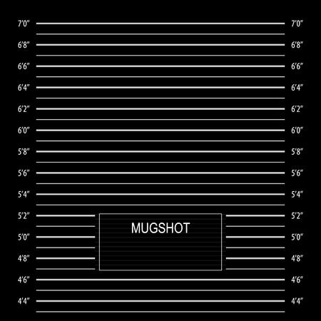 Black police lineup or mugshot vector background