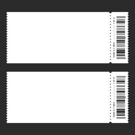 Ticket template Vector illustration.