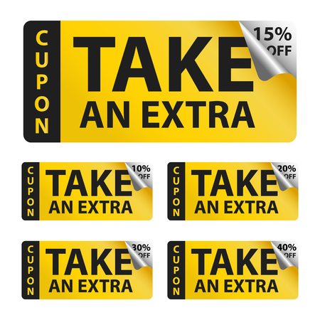 Take an extra sale yellow coupon sticker