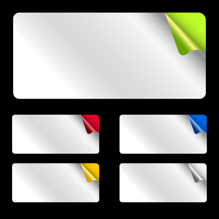 Set light rectangular stickers