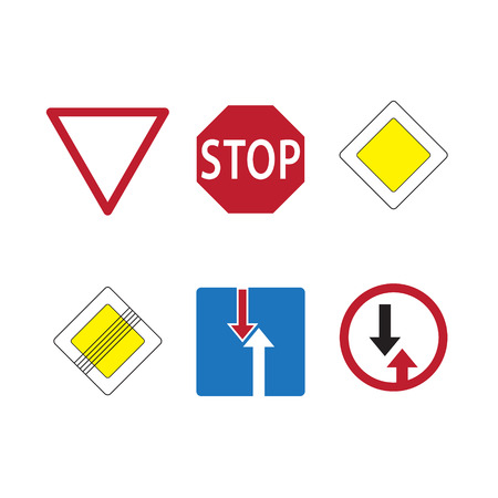 Traffic signs. Signs priority Illustration