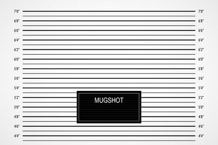 Police mugshot background Vector illustration.