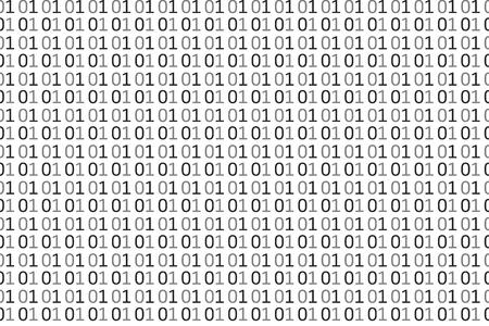 Modèle sans couture de code informatique binaire. Illustration de fond de vecteur.
