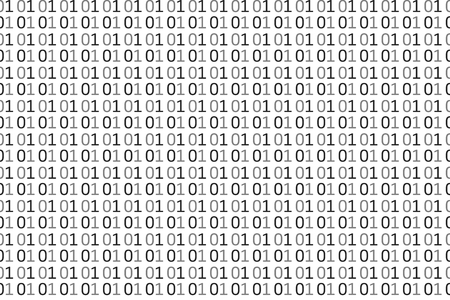 Binary computer code seamless pattern. Vector Background Illustration.