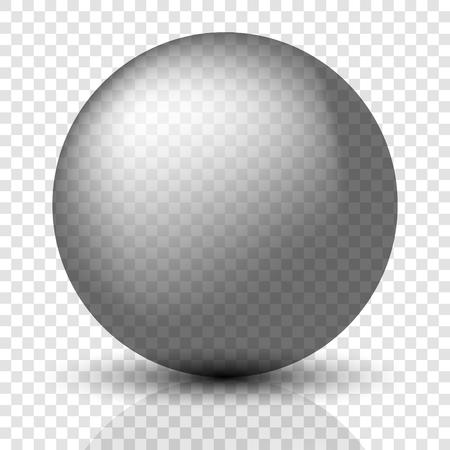 Translucent globe. Shiny Silver Ball. Glass ball
