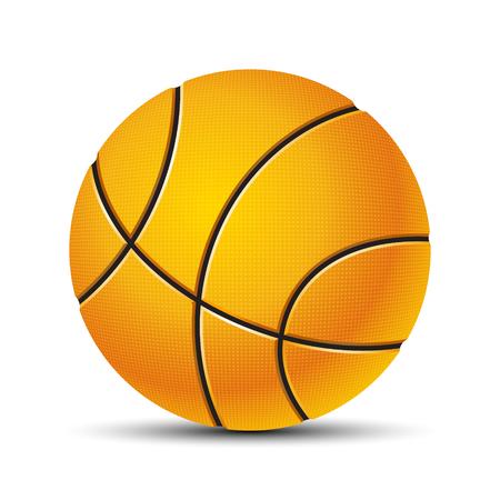 Basketball ball Vector illustration on white background.