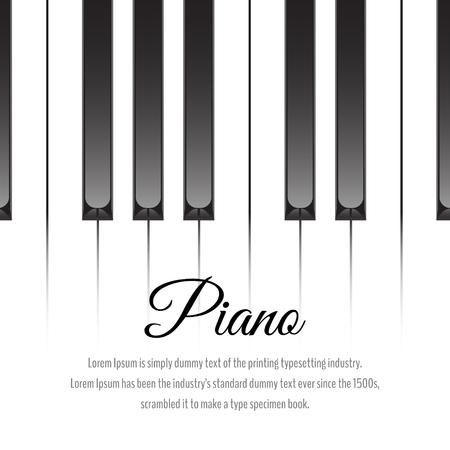 Piano keys concept. Vector illustration