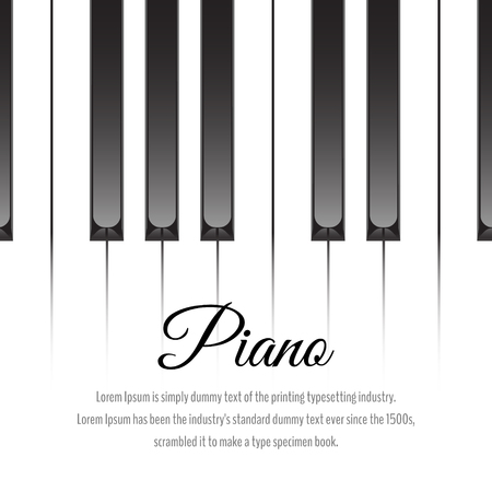 Piano keys concept. Vector illustration
