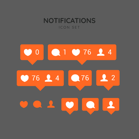 Speech bubbles. Vector. Speech bubbles for social networks. Vector. Likes, comments, followers and subscribers in social communication.