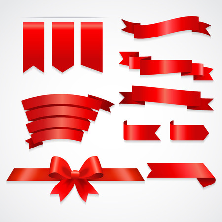 Different retro style ribbons set. Ready for text Banco de Imagens - 124253970
