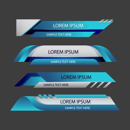 Elements banner for website or app.