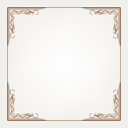 Frame is on the white background. Illustration