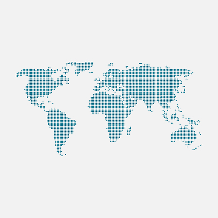 abstract world map planet, lines, global world map halftone concept. infographic, icon. Иллюстрация