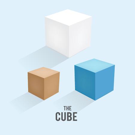 multi-colored boxes Ilustrace