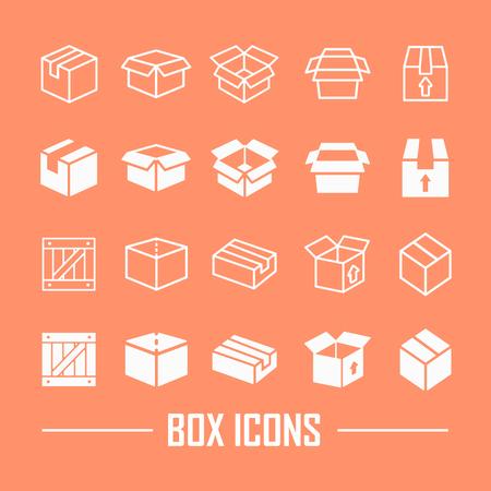 Boxes icon on an orange background Ilustrace