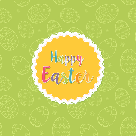 Happy Easter. Greeting card trendy design. Invitation template Vector illustration for you poster or flyer. Иллюстрация