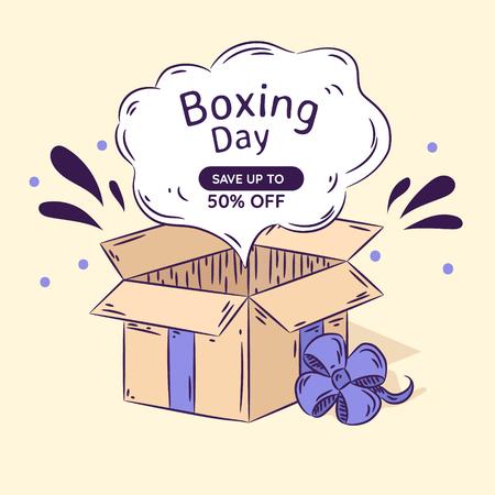Open Box day sale. Vector