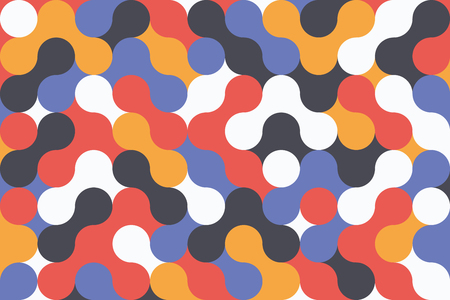 Creative geometric colorful background with patterns. Collage. Design for prints, posters, cards, etc. Vector Ilustração