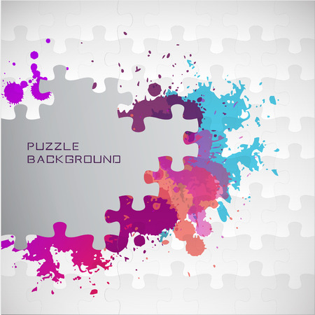 Puzzle color background with place for text