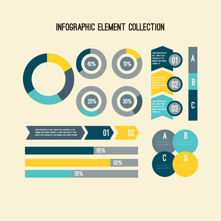Set of statistics or strategy concept infographic charts. Business diagrams for presentation slide templates. For corporate report, advertising, banner and brochure design