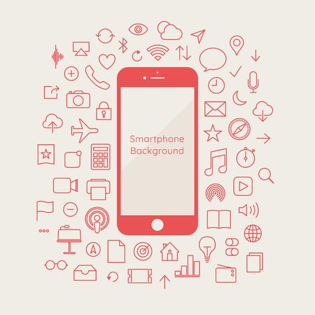 Phone icon vector. Call icon vector. mobile phone smartphone device gadget. telephone icon Ilustração