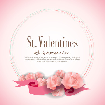 Valentines Day card concept with roses
