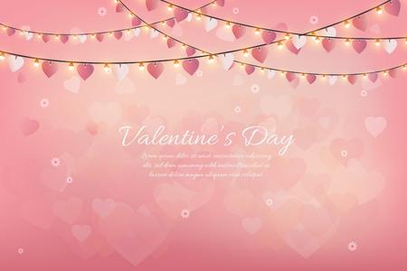 Happy Valentines Day Vector illustration.