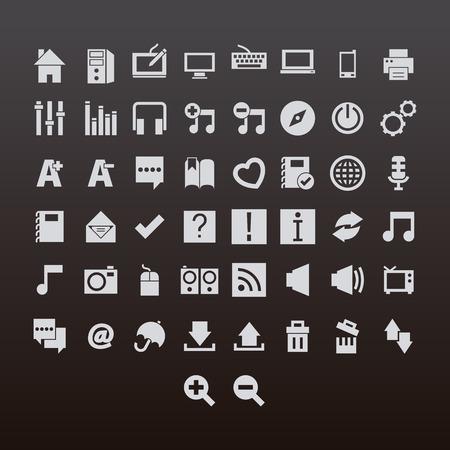 Web icon set various symbol vector