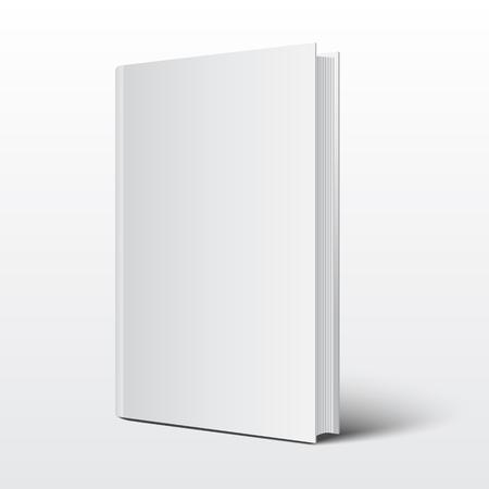 Pusta okładka książki na białym tle vector Ilustracje wektorowe