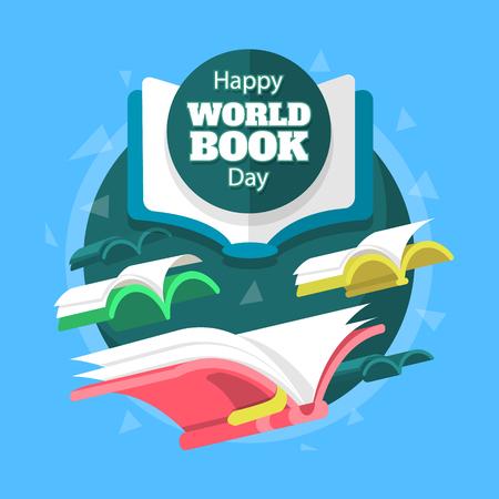 Happy Book Day. Imagination concept vector illustration.
