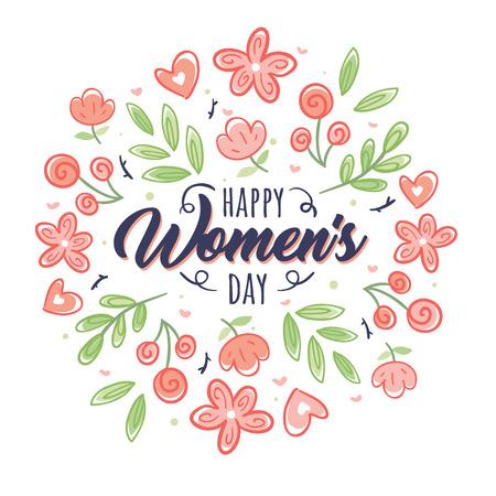 Women's Day, March 8, congratulations to women.