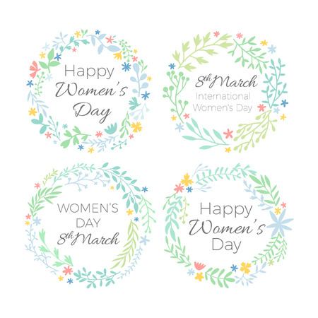 8 March. Women's Day Greeting card. Origami Floral bouquet. Rectangle frame. Space for text on purple. Happy Mother's Day. Vector Spring illustration Ilustração