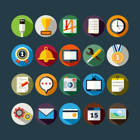 set icons vector illustration