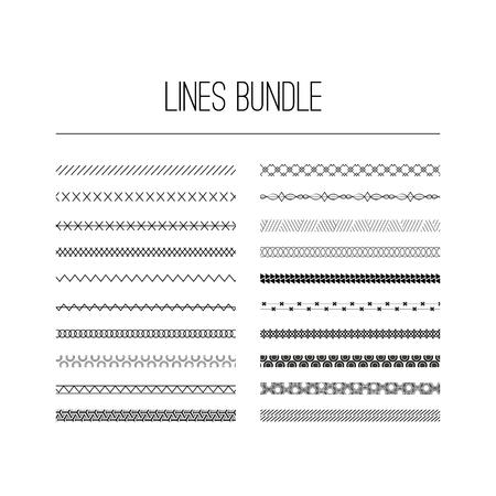 Kalligrafische randen, patronen en sierhoeken. Vector patroonpenselen instellen. decoratieve elementen voor de ontwerpwerken. Het kan worden gebruikt als afzonderlijke elementen of borstels