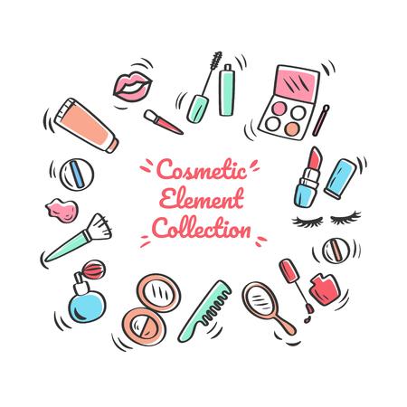 cosmetics design over white background vector illustration