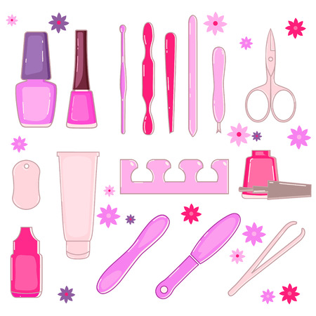 cosmetics design over white background vector illustration