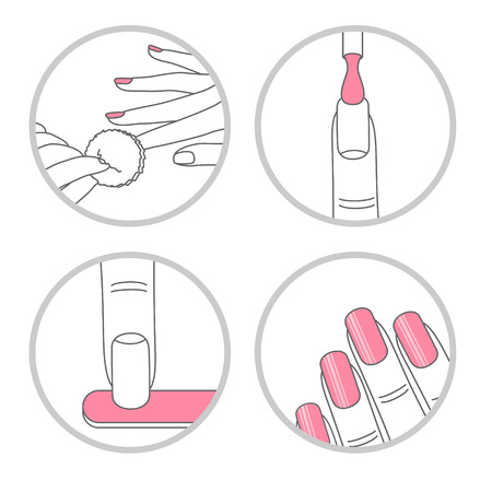 Set of cosmetics, beauty and makeup icons in flat design Banco de Imagens - 124235901