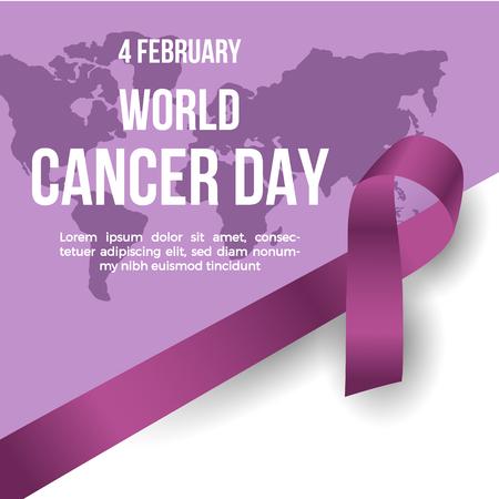 World Cancer Day concept. Vector Illustration