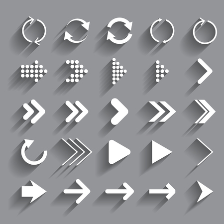 set of vector arrows and circles