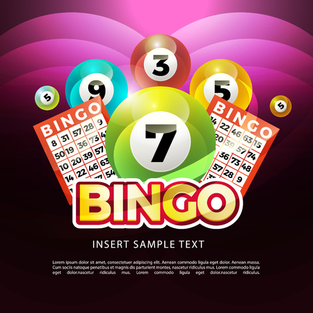 lottery banners with realistic icons balls coins lottery ticket and place for text