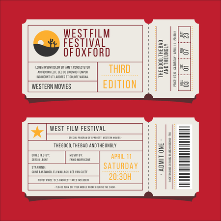 western film ticket